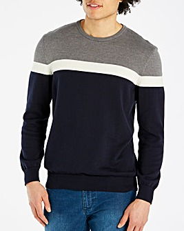 Bewley & Ritch Navy/Grey Jumper R
