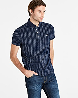 Bewley & Ritch Navy Print Polo R