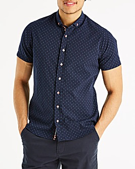 Bewley & Ritch Navy S/S Shirt R