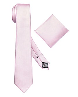 Burton London Pink Textured Tie Set