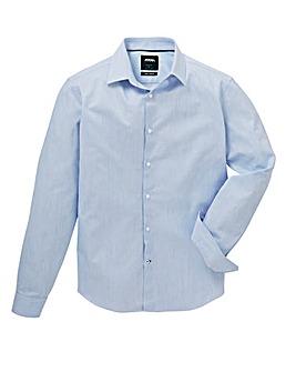 Burton London B&T Slim Blue Jaspe shirt
