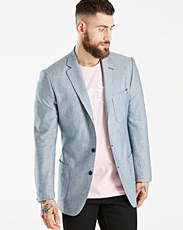 Bewley & Ritch Blue Linen Mix Blazer R