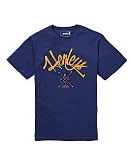 Henleys Navy Arch T-Shirt Long