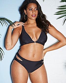 Figleaves Curve Zip Detail Bikini Top