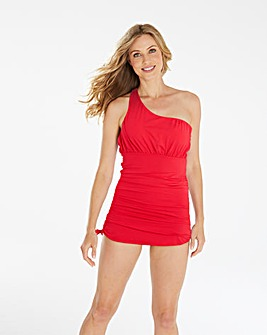 Magisculpt Red One Shoulder Swimdress