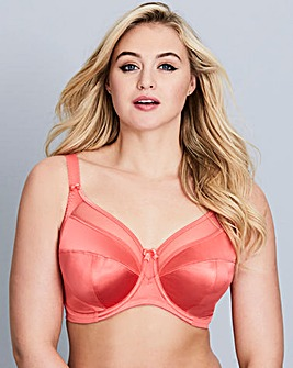 Goddess Keira Full Cup Wired Coral Bra