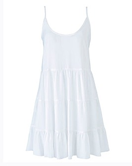 Cross Back Tiered Beach Dress
