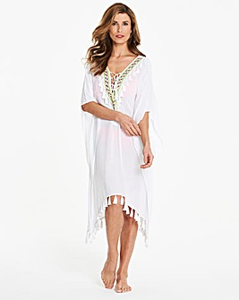 Embroidered Front Kaftan