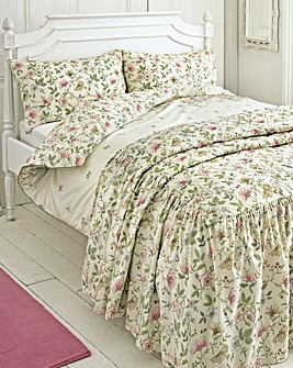 Vantona Cottage Garden Quilted Bedspread
