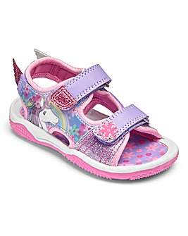 Girls Unicorn Touch and Close Sandals