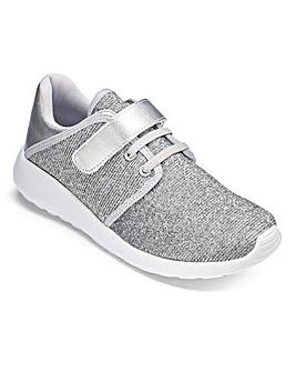 Silver Glitter Trainer