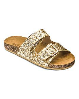 Girls Glitter Slip On Sandals