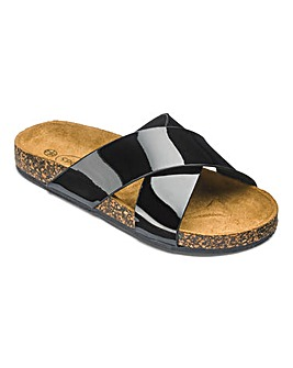 Girls Patent Cross Strap Sandals