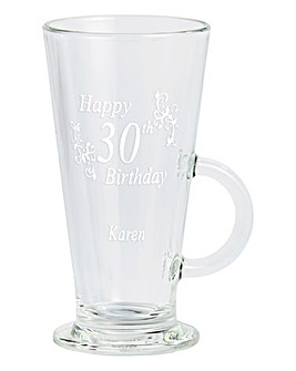 Personalised Birthday Latte Glass