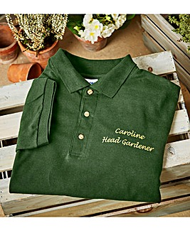 Personalised Head Gardener Polo T-Shirt