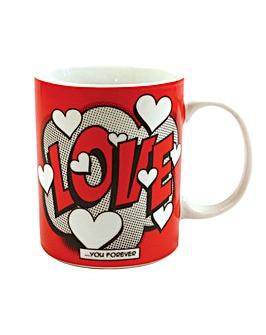 Comic Book Love Porcelain Mug