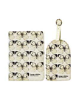 Butterflies Passport and Luggage Tag Set