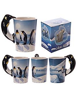 Shaped Handle Novelty Mug - Penguin