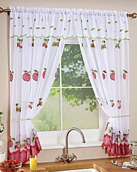 Fruit Gingham Window Set