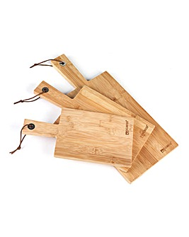 Progress 3 Pc Paddle Chopping Board Set