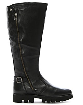 Daniel Saber Leather Cleated Knee Boots