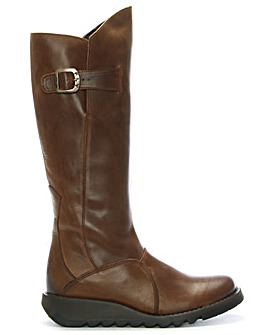 Fly London Raised Front Wedge Knee Boots