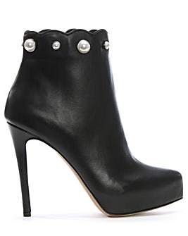 Daniel Pearlized Platform Ankle Boots