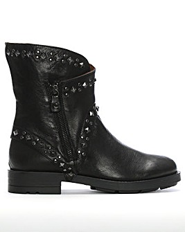 Daniel Matha Leather Studded Biker Boots
