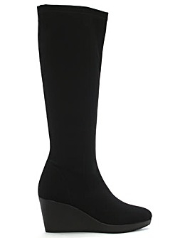 Daniel Rosetta Wedge Fabric Knee Boots