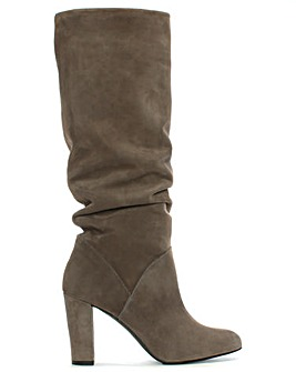 Daniel Atube Suede Rouched Knee Boots