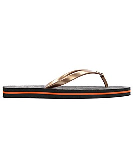 Michael Kors Logo Toe Post Flip Flops