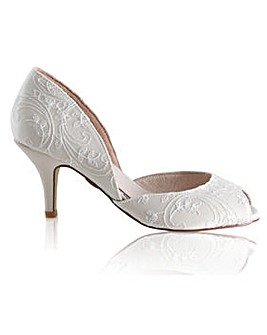 Perfect Corinne Lace Peep Toe
