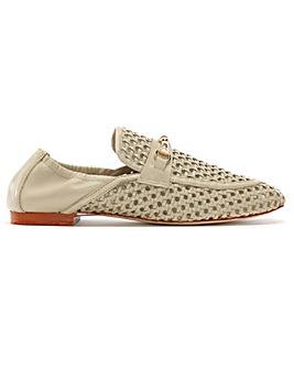 Daniel Ballena Leather Woven Loafers