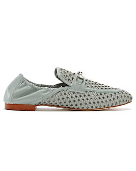 Daniel Ballena Leather Woven Loafers