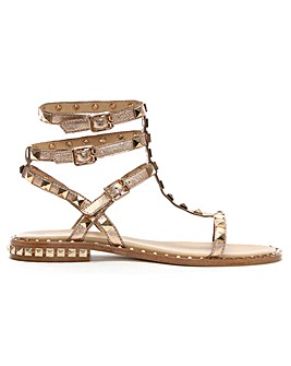 Ash Leather Studded Gladiator Sandals