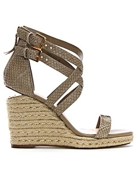 Daniel Palomo Lattice Wedge Sandals