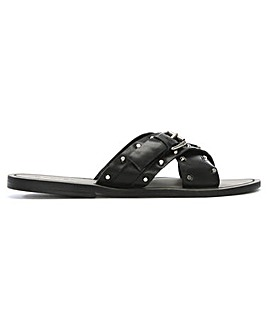 Daniel Rasa Studded Cross Strap Sliders
