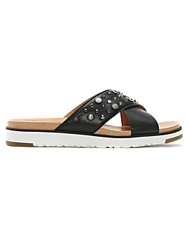 UGG Kari Bling Studded Leather Sliders