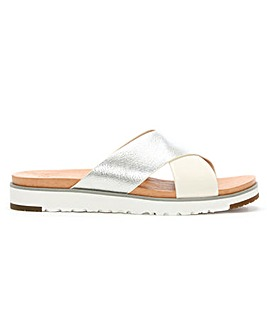 UGG Kari II Leather Criss Cross Sliders