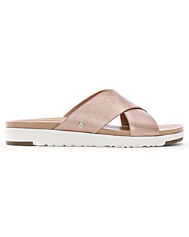 UGG Kari Leather Criss Cross Sliders