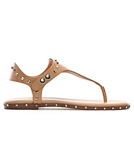 Daniel Mavor Studded Toe Post Sandals