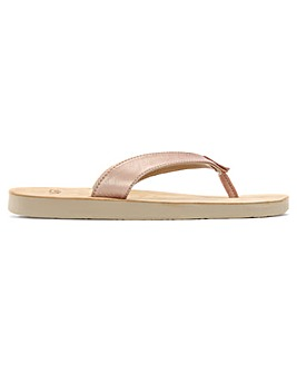 UGG Tawney Metallic Toe Post Flip Flops