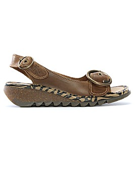 Fly London Leather Sling Back Sandals
