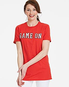 GAME ON Football Slogan T-Shirt