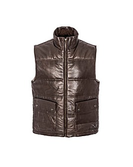 Woodland Leather Puffa Gilet