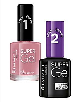 Super Gel Polish Duo - Grape Sorbet