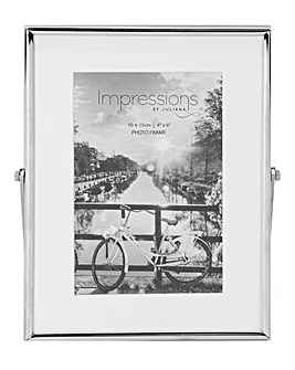 Impressions Silverplated Photo Frame 4x6