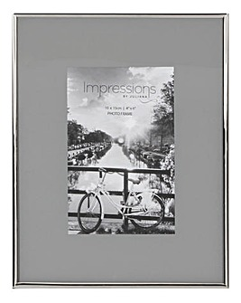 Impressions Nickel Grey Photo Frame