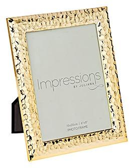 Impressions Hammered Gold Frame 6x8