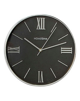 Hometime Black & Chrome Clock